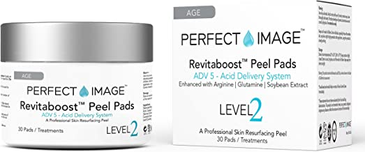 REVITABOOST PEEL Anti-Aging Peel Pads (30) - Enhanced with Glycolic | TCA | Mandelic Acid | Arginine | Glutamine | Soybean