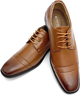 Easy Strider Men's Dress Shoes   Lace-Up Oxfords Dress Shoe for Men   Flexible And Comfortable Stylish Wingtip Designer Look   Office And Business Dress Up   Available in Regular And Big and Tall Sizes
