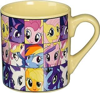 Silver Buffalo MLP6132 My Little Pony Heads Ceramic Mug, 14-Ounces