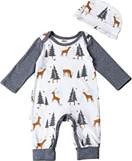 Baby Boy' Outfits Fancy Costume Romper Bodysuit Tree and Deer