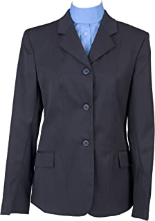 DEVON-AIRE Ladies Nouvelle Stretch Show Coat, Navy, 18
