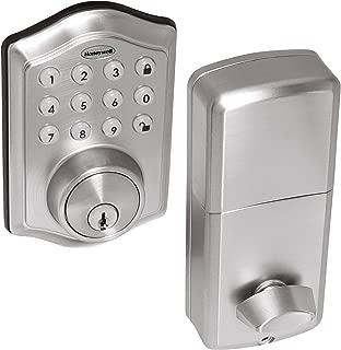 Honeywell Safes & Door Locks - 8712309 Electronic Entry Deadbolt with Keypad, Satin Nickel
