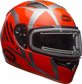 Bell Qualifier Electric Shield Snow Helmet (Blaze Gloss Titanium/Orange, Small)