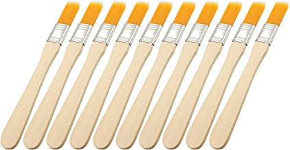 LBY 10pcs 135mm Household Cleaning Dusting Brush Paint Brush Small Size Keyboard Brush Computer Notebook Dusting Brush Yellow Natural Bristles, Wooden Handle