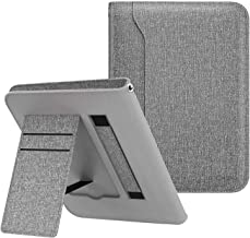 MoKo Case Compatible with Kindle Paperwhite (10th Generation, 2018 Release), Lightweight Protective Shell Stand Cover with Card Slot Fits Kindle Paperwhite E-Reader 2018 Version - Denim Gray