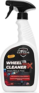 Non Acid Car Wheel and Tire Cleaner - Busts Through Brake Dust and Road Dirt Easily - Clean and Shine Auto/Motorcycle Rims. Spray On Chrome, Alloy, Aluminum, Painted, and Aftermarket Wheels 32 oz