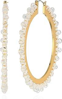 kate spade new york Womens Hoop Earrings, White