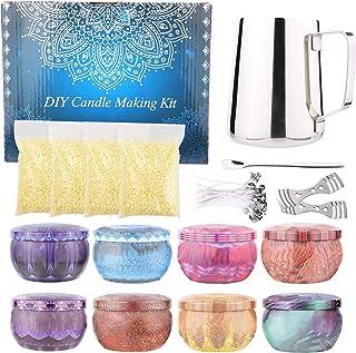 feihao Kit Fabrication Bougies Parfumées,Kit de Fabrication de Bougies,Fabrication de Bougies de Cire Bricolage,Bougies Fa...
