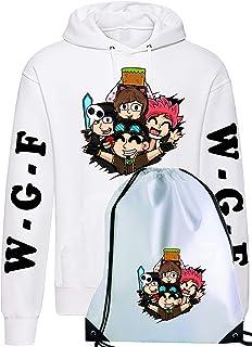 CLOTHING Felpa con Cappuccio Sacca Sportiva con Team WGF Lyon Logo