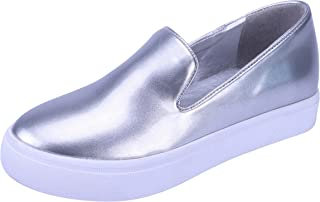 Cambridge Select Women's Slip-On Closed Round Toe Fashion Sneaker