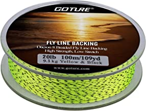 Goture Fly Fishing Dacron Line Backing//8 Strands Braided//for Trout Bass Pike in The Saltwater Freshwater 20lb 30lb 109yd Orange White Yellow White/Black Yellow/Black