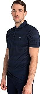 Men's Short Sleeve Shadow Stripe Polo