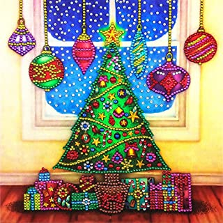 Huuiy 5D Diamond Painting Kits for Adults, Full Crystal Rhinestone Painting Embroidery Cross Stitch Arts Craft Canvas Wall Decor