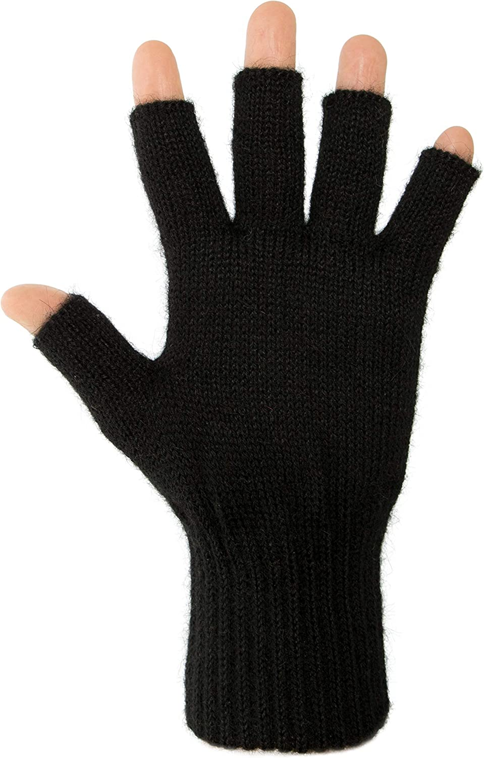 Darn Warm Alpaca Fingerless Gloves - Best Natural Solution for Cold Hands for Women and Men