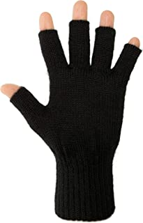 DARN WARM Alpaca FINGERLESS Gloves - BEST NATURAL SOLUTION for COLD HANDS