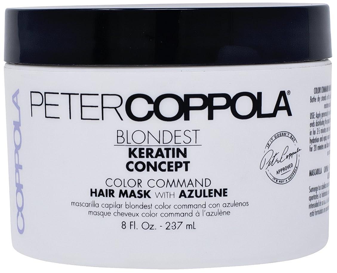 ゼリー西倒錯Peter Coppola アズレンとマスクの色コマンドブロンド髪 - ブロンド調色は、削除イエロー、ケラチン金庫、損傷修復、ディープコンディショニングマスクをスムージング(8 OZ) 8オンス