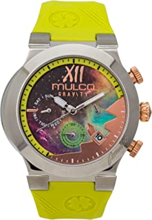 Mulco Gravity Galaxy Swiss Analog Chronograph Watch -Premium Multicolor Analog Sundial with Beige 100%