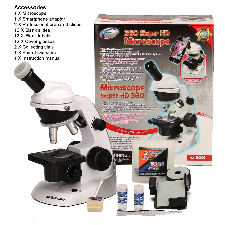 CFtrum Kit de Microscopio con el Adaptador del Smartphone para ...