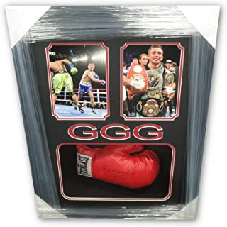 Gennady Golovkin GGG Hand Signed Auto Everlast Boxing Glove Full Signature Frame - Autographed Boxing Gloves