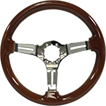 mahogany steering wheel boat