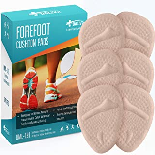 Metatarsal Pads Ball of Foot Cushions (6PCS) - Forefoot Cushions Shoe Inserts For Man & Women - Insoles For Ball of Foot Pain - Pain Relief for Metatarsalgia Morton Neuroma Calluses