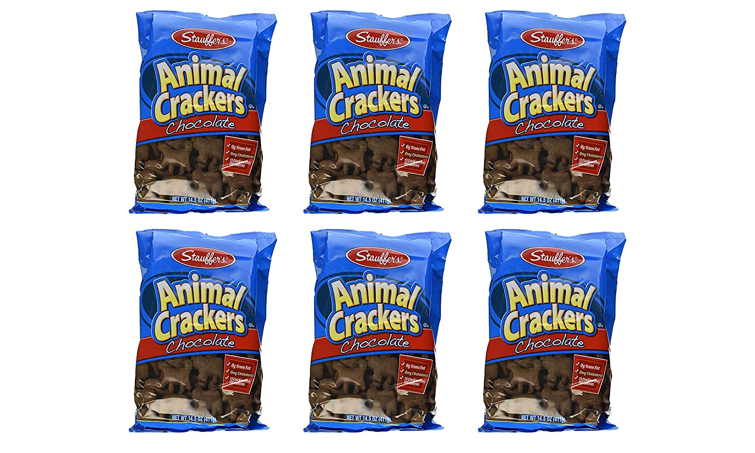 Stauffer's Chocolate Animal Crackers 6 Dedication of Indianapolis Mall Pack 87oz Total