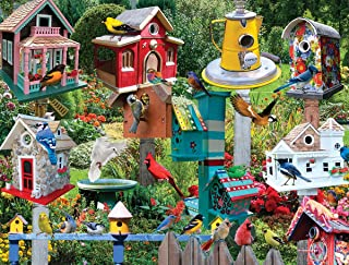 White Mountain Puzzles Birdhouse Village - 550 Piece Jigsaw Puzzle