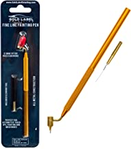 Gold Label Detailing Fine Line Fluid Writer Paint Applicator Pen | Precision Touch Up Paint | Perfect for Rock Chips and Scratch Repair | .5mm Tip Brass Construction