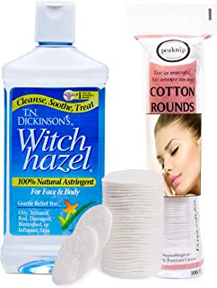 Sponsored Ad - T.N. Dickinson's 16 oz. Witch Hazel 100% Natural Astringent with 100 Pcs. Cotton Rounds