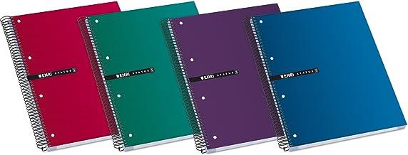 Enri Status 100435670 Cuadernos espiral microperforados, tapa extradura, A4+, Pack de 5