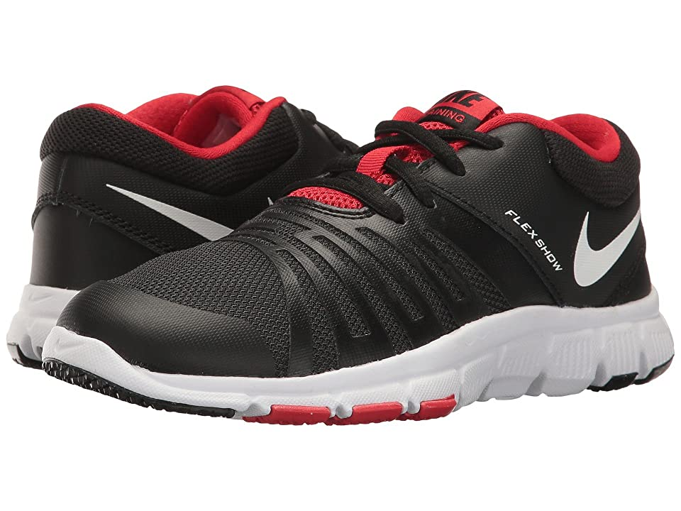 Nike Kids Flex Show TR 5 (Little Kid/Big Kid) (Black/University Red/White) Boys Shoes