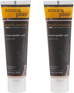 Peaceful Mountain Arnic Plus Homeopathic Gel (Pack of 2) with Arnica Montana Extract, Witch Hazel Extract, Rhus Toxicodend...