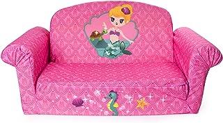 Marshmallow Furniture - Children's 2 in 1 Mermaid Flip Open Foam Sofa