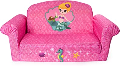 Marshmallow Furniture - Children's 2 in 1 Mermaid Flip Open Foam Sofa