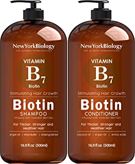 Biotin Shampoo and Conditioner Set for Hair Growth and Volume – Anti Dandruff Thickening Shampoo for Hair L...