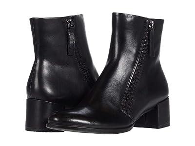 ECCO Shape 35 Block Side Zip Bootie (Black) Women