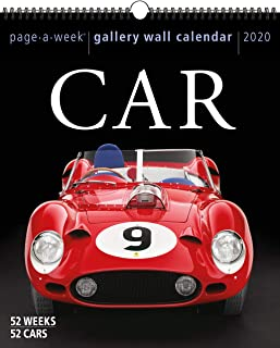 Car Page-A-Week Gallery Wall Calendar 2020
