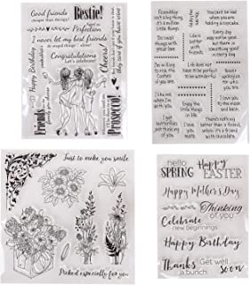 Friendly Phrases Pretty Patterns Silicone Clear Stamps for Card Making Decoration and Scrapbooking(Friendship)