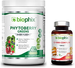 Sponsored Ad - *Flash Sale* Phytoberry Greens Berry Flavor Superfood Powder 10 oz - Free Vitamin C - Natural Berry Flavor ...