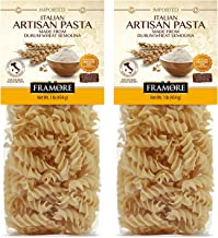 FRAMORE Fusilli Pasta Italian one pound pack of two Authentic Made Imported from Italy Gourmet Artisan of durum wheat semo...