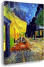 Giallobus - Schilderij - Afdrukken op Canvas - Vincent Van Gogh - Terras van een café's nachts - 50 X 70 Cm