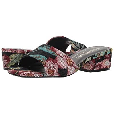 Matisse Coconuts by Matisse-Penny Lane Heel (Black Floral Fabric) Women