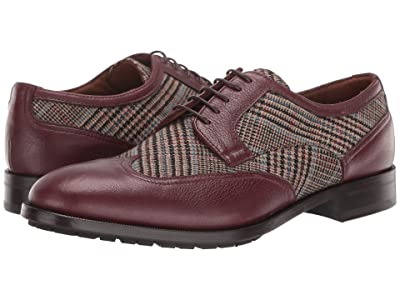 Etro Prince of Wales Wing Tip Oxford (Red) Men