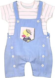 7df746f505 Baby Kurze Latzhose Latzshorts blau Jungen Shirt Set Sommer Outfit Shorts  Top Neugeboren