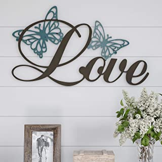 Lavish Home Metal Cutout-Love Wall Sign-3D Word Art Home Accent Decor-Perfect for Modern Rustic or Vintage Farmhouse Style