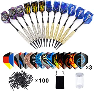 comprar comparacion Dardos Diana Electronica(18g), Colourstone Set de 12 Dardos con Punta de plástico para Bar Dianas Electrónicas de Dardos P...