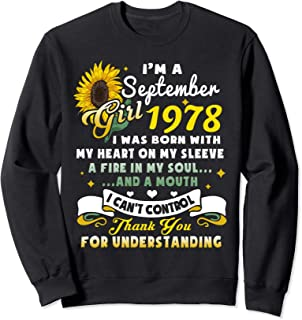 I'm A September Girl 1978 Sunflower Sweatshirt