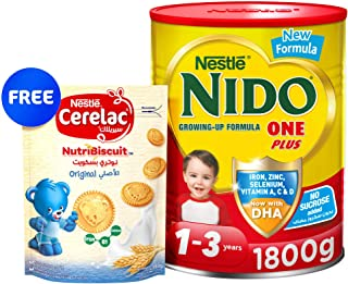 Nido One Plus, 1800g + Nestle Cerelac Nutribiscuit bag, 180g