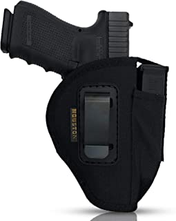 IWB and OWB Tactical Nylon Gun + Mag Holster by Houston - Ambidextrous Inside and Outside The Waistband | Fits: Glocks 19/23/32/17/22/31/20/21, XDM, Ruger P95,Sig Sauers Full, Berreta PX4 (Large)