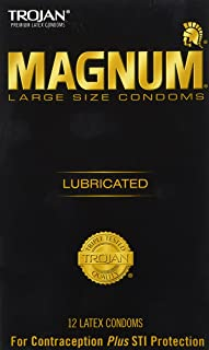 Trojan Large Size Condom Magnum Lubricated 12Pc -2 Packs